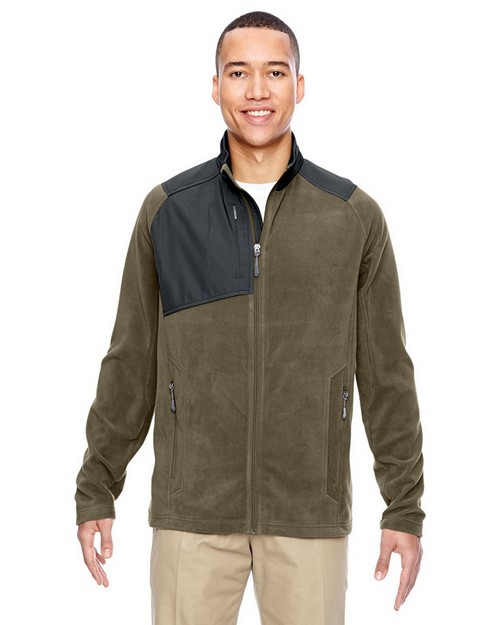 North End 88215 Mens Excursion Trail Fabric Block Fleece Jacket
