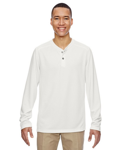 North End 88221 Mens Excursion Nomad Performance Waffle Henley