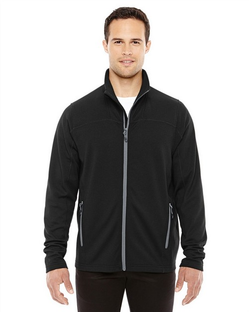 North End 88229 Mens Torrent Interactive Textured Performance Fleece Jacket