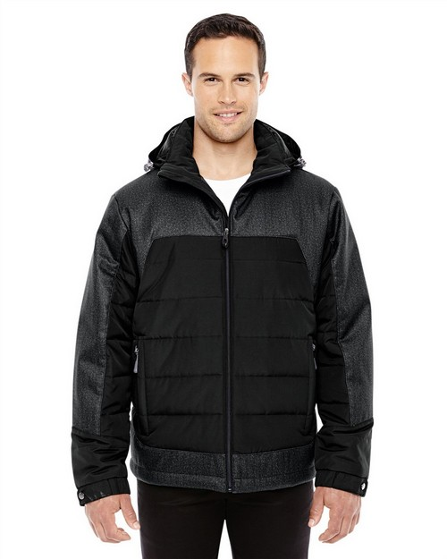 North End 88232 Mens Excursion Meridian Insulated Jacket with Melange Print
