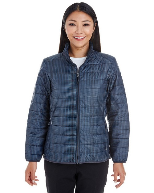 North End NE701W Ladies Portable Interactive Printed Packable Puffer