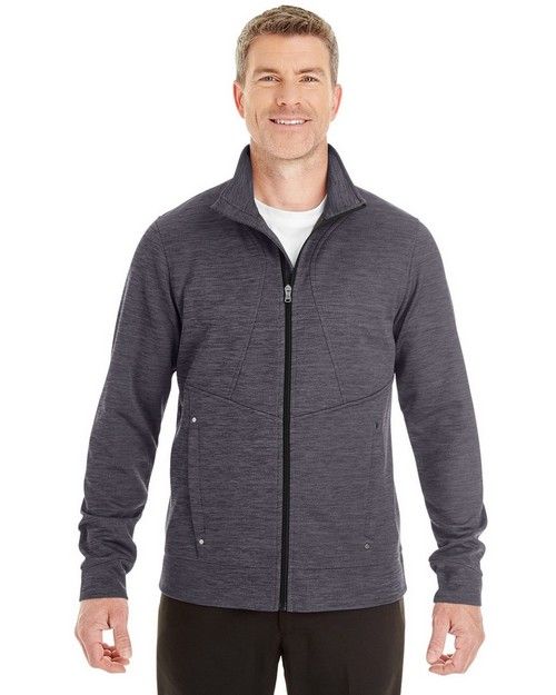 North End NE704 Mens Amplify Melange Fleece Jacket