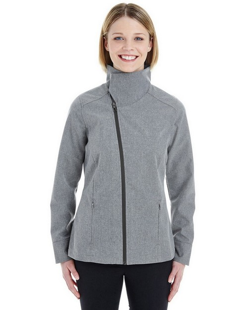 North End NE705W Ladies Edge Soft Shell Jacket with Fold-Down Collar