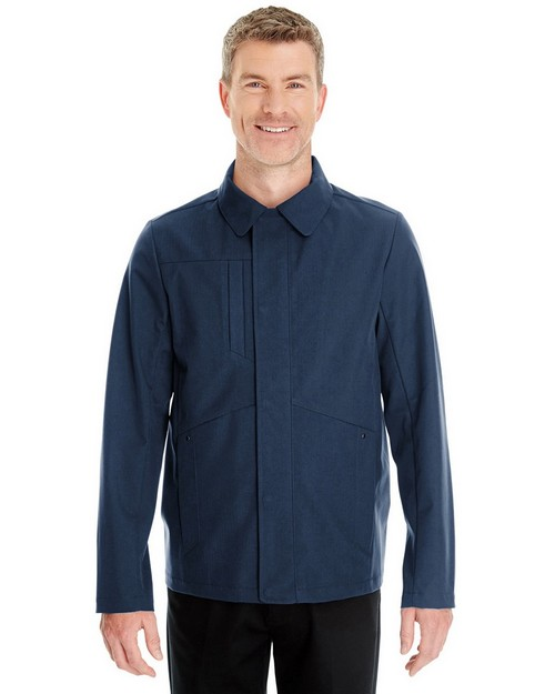 North End NE705 Mens Edge Soft Shell Jacket with Fold-Down Collar