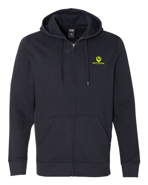 Logo Embroidered Oakley Cotton Logo Embroidered Blend Hooded Full-Zip Sweatshirt - For Men