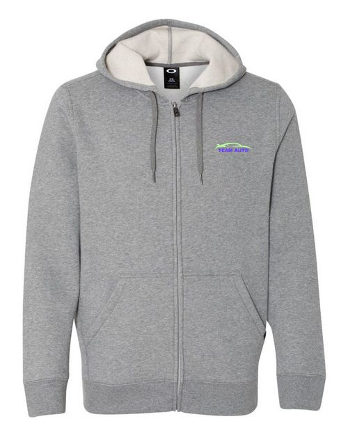 Oakley Cotton Logo Embroidered Blend Hooded Full-Zip Sweatshirt - For Men