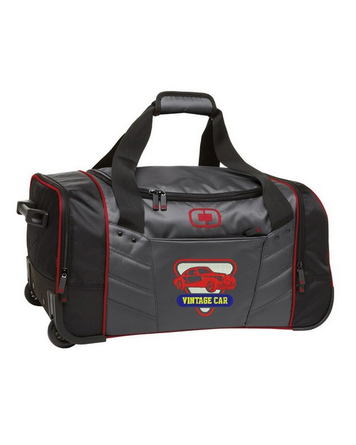 Ogio Custom Logo Embroidered Hamblin Wheeled Duffel Bag