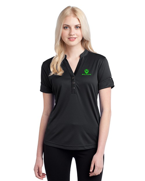 Logo Embroidered Ogio Logo Embroidered Gaze Henley Top - For Women