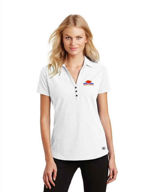Ogio Logo Embroidered Onyx Polo Shirt - For Women