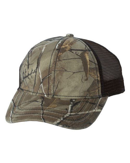 Outdoor Cap CWF310 Camo Cap with Mesh Back and American Flag Undervisor