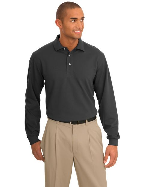 Port Authority K455LS Rapid Dry Long Sleeve Polo.