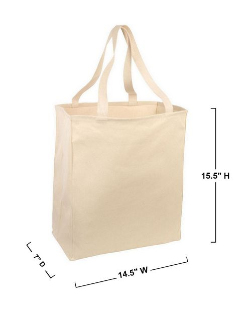 Port Authority B110 Over the Shoulder Grocery Tote