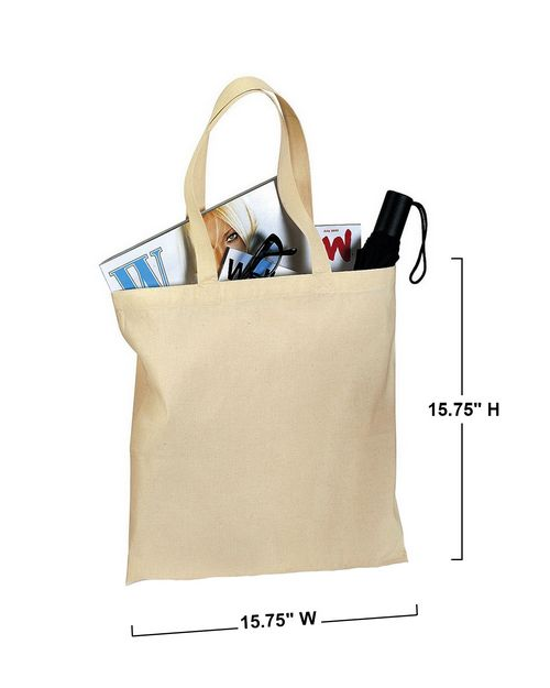 Port Authority B150 Cotton Sheeting Budget Tote