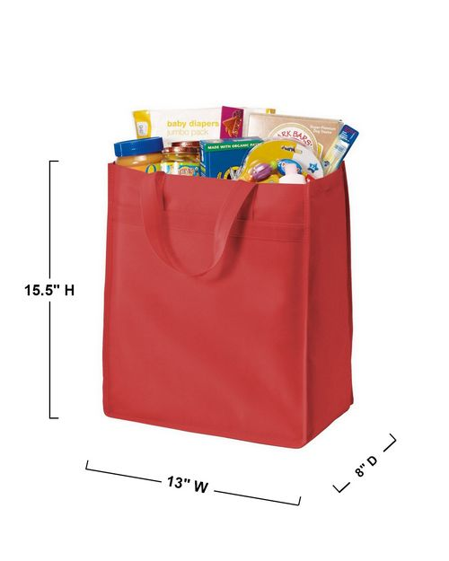 Port Authority B159 Port & Company Standard Polypropylene Grocery Tote