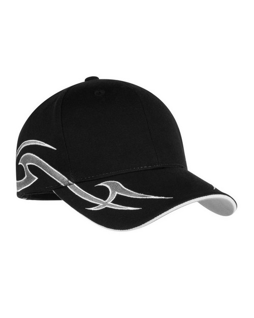 Port Authority C878 Racing Cap with Sickle Flames