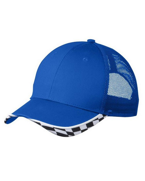 Port Authority C903 Checkered Racing Mesh Back Cap