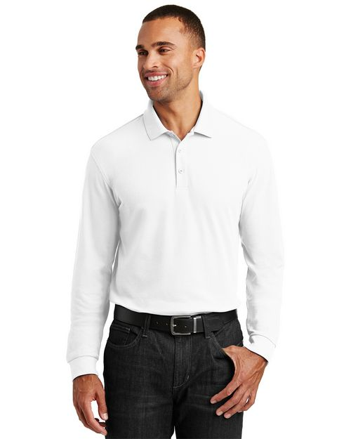 Port Authority K100LS Long Sleeve Core Classic Pique Polo