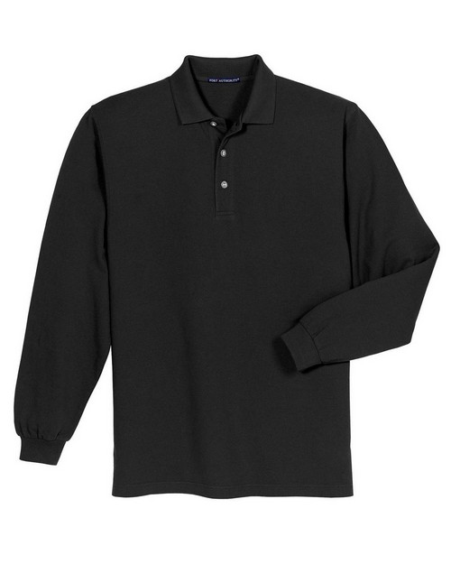 Port Authority K320 Long Sleeve Pique Knit Polo