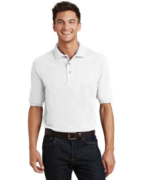 Port Authority K420P Pique Knit Polo with Pocket