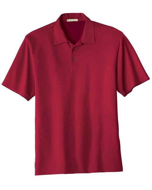 Port Authority K498 Poly Bamboo Charcoal Birdseye Jacquard Polo