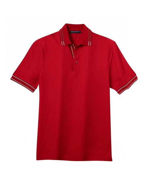 Port Authority K502 Silk Touch Tipped Polo