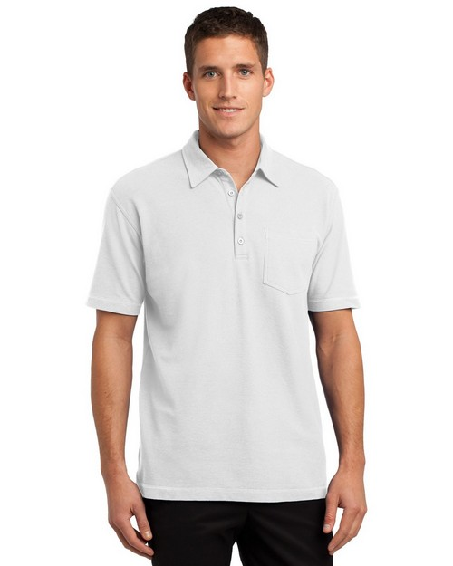 Port Authority K559 Modern Stain Resistant Pocket Polo