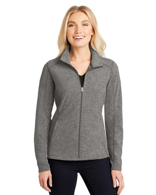 Port Authority L235 Ladies Heather Microfleece Full-Zip Jacket
