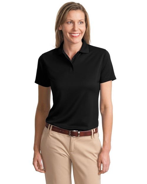 Port Authority L497 Ladies Poly Charcoal Blend Pique Polo
