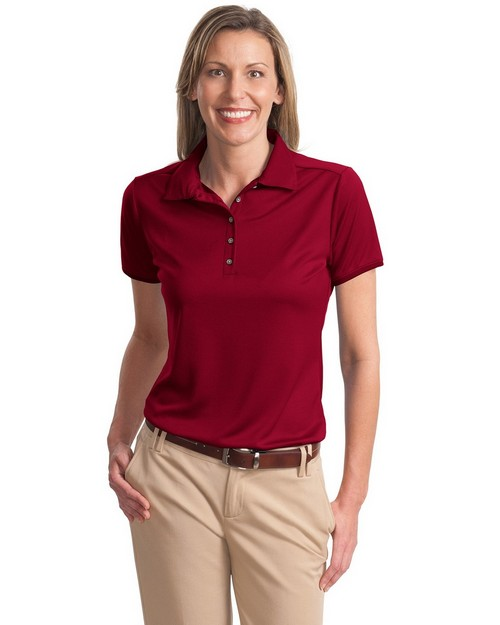 Port Authority L498 Ladies Poly-Bamboo Charcoal Birdseye Jacquard Polo