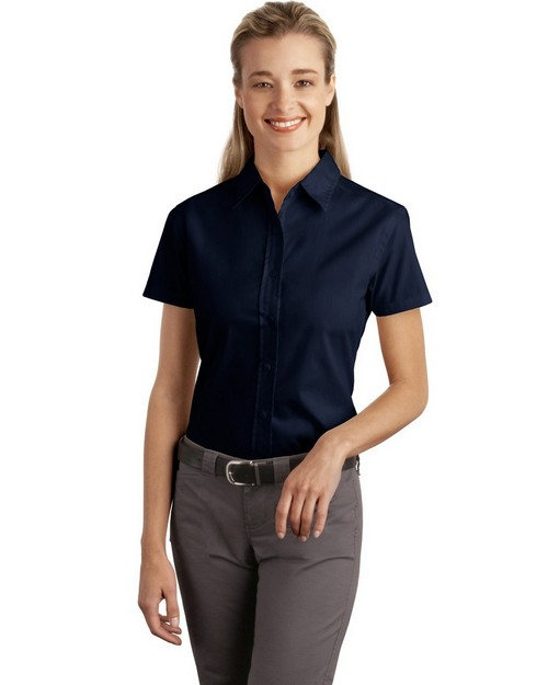 Port Authority L507 Ladies Short Sleeve Easy Care Soil Resistant Shirt