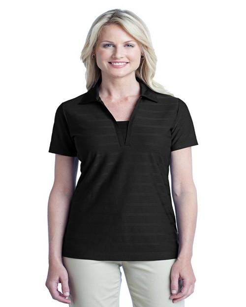 Port Authority L514 Ladies Horizontal Texture Polo