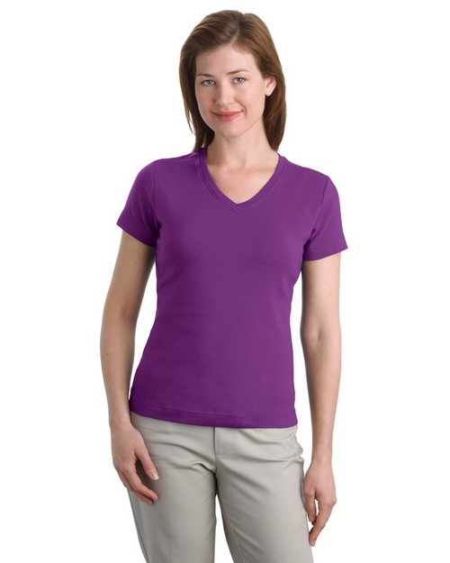 Port Authority L516V Ladies Modern Stretch Cotton V-Neck Shirt