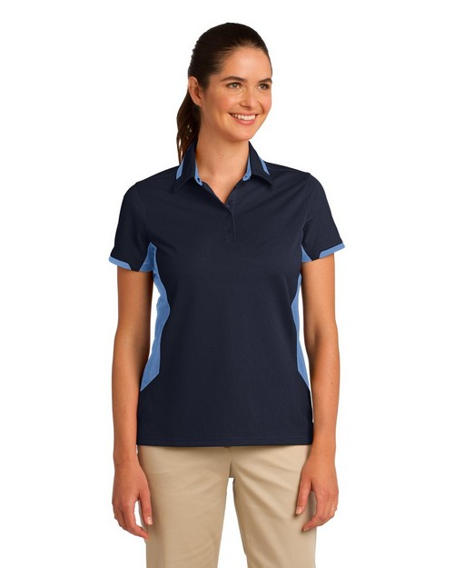 Port Authority L524 Ladies Dry Zone Colorblock Ottoman Polo