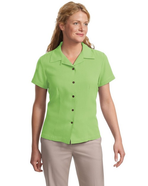 Port Authority L533 Signature Ladies Silk Blend Camp Shirt