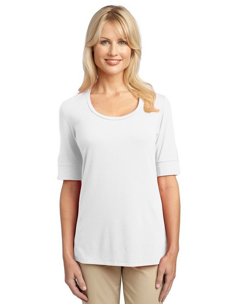 Port Authority L541 Ladies Concept Scoop Neck Shirt