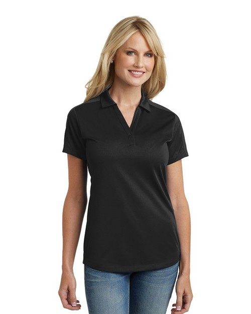 Port Authority L569 Ladies Diamond Jacquard Polo Shirt