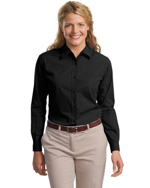 Port Authority L607 Ladies Long Sleeve Easy Care Soil Resistant Shirt