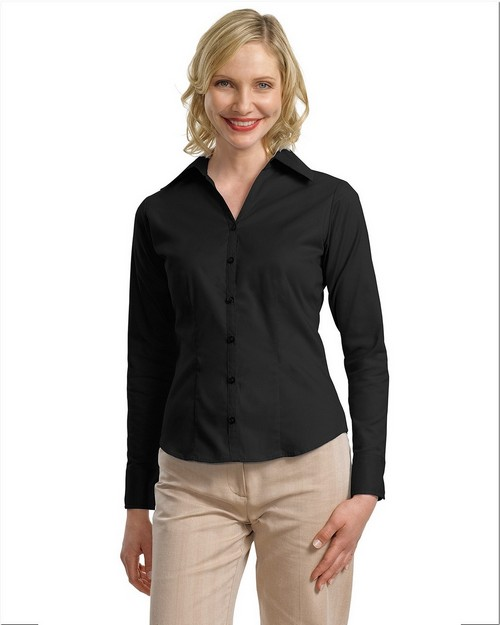 Port Authority L628 Ladies Open Neck Blouse