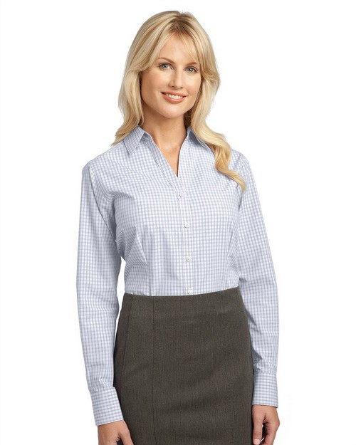 Port Authority L639 Ladies Plaid Pattern Easy Care Shirt