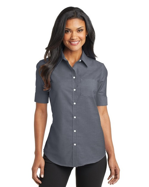 Port Authority L659 Ladies Short Sleeve SuperPro Oxford Dress Shirt