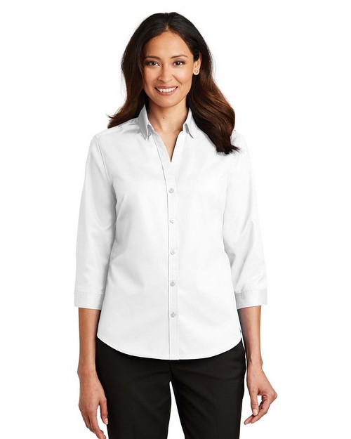 Port Authority L665 Ladies 3/4-Sleeve SuperPro Twill Shirt