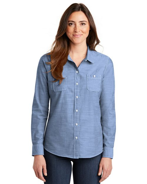 Port Authority LW380 Ladies Slub Chambray Shirt