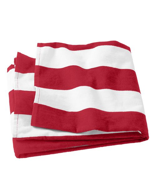 Port Authority PT43 Cabana Stripe Beach Towel