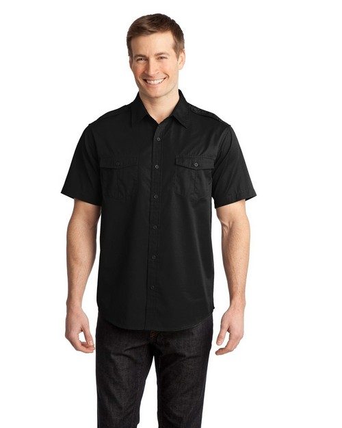 Port Authority S648 Stain-Resistant Short Sleeve Twill Shirt