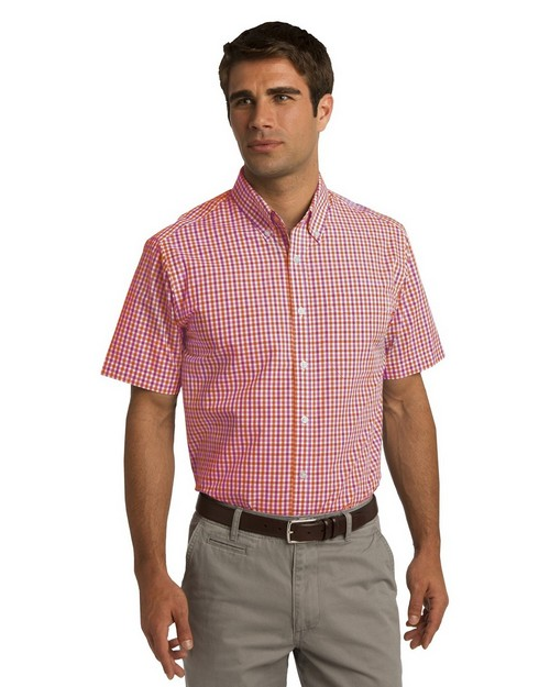 Port Authority S655 Short Sleeve Gingham Shirt