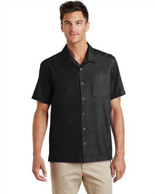 Port Authority S662 Textured Camp Shirt