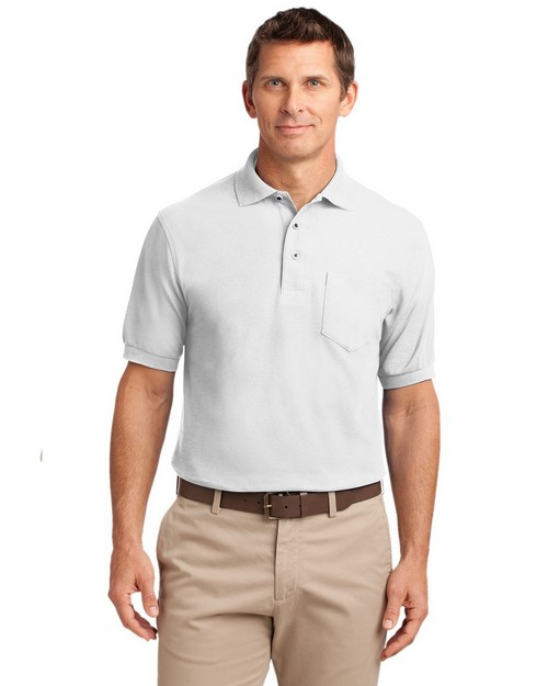 Port Authority TLK500P Tall Silk Touch Polo with Pocket