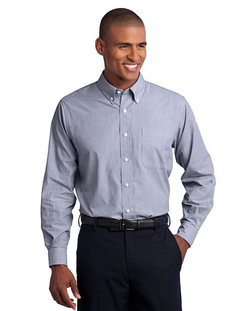 Port Authority TLS640 Tall Crosshatch Easy Care Shirt