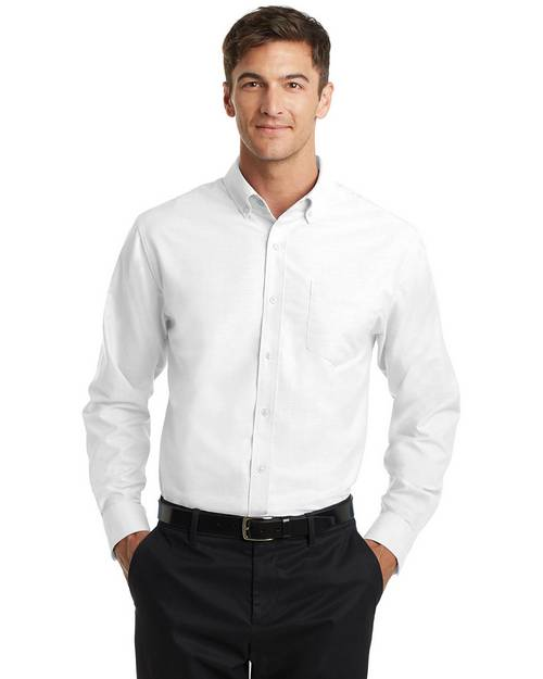 Port Authority TS658 Mens Tall Super Pro Oxford Shirt