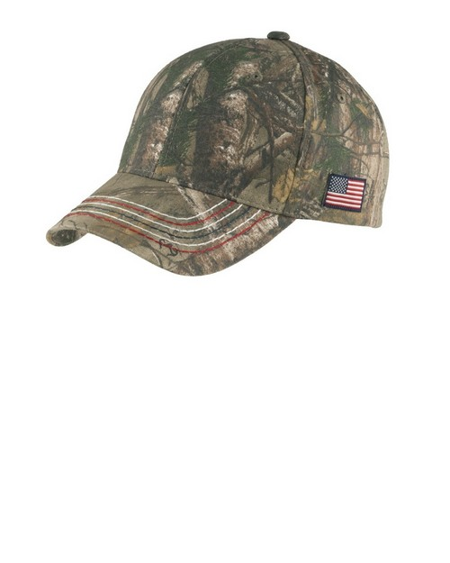 Port & Company C909 by Port Authority Americana Contrast Stitch Camouflage Cap